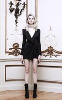 Balmain Silk Satin Wrap-Effect Dress
