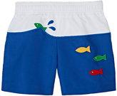 Florence Eiseman Fish-Appliquéd Swim Trunks