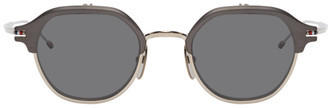 Thom Browne Black and Silver TBS812 Flip-Up Sunglasses