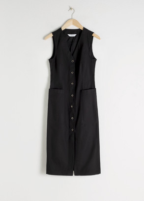 And other stories Cotton Blend Button Up Dress