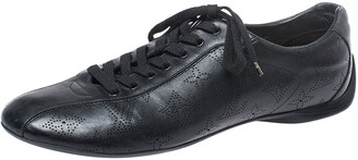 Louis Vuitton Black Mahina Leather Low Top Sneakers Size 39.5