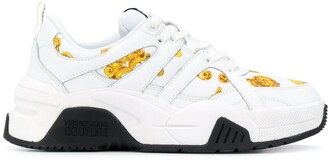 Versace Jeans Couture Baroque-Print Low-Top Sneakers