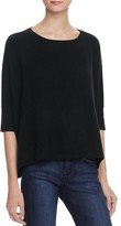 Minnie Rose Cropped Cashmere Crewneck Sweater