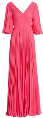 Teri Jon by Rickie Freeman Chiffon Pleated Gown