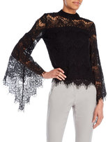 philosophy Lace Bell Sleeve Top
