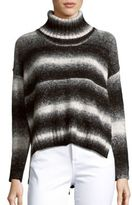 Saks Fifth Avenue Ombre Striped High-Neck Turtleneck