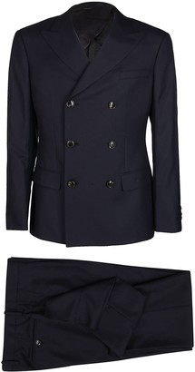 Giorgio Armani Blue Wool Blend Two-piece Suit