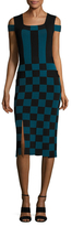 Opening Ceremony Basket Weave Printed Sheath Dress