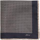 Brioni Chain-link print silk pocket square