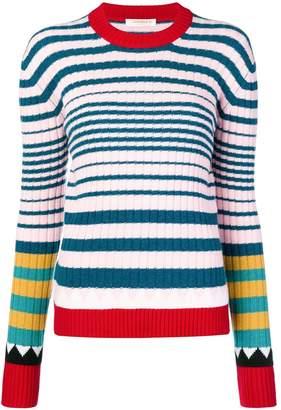 La DoubleJ striped rib sweater
