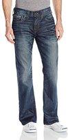 True Religion Men's Billy Flap Pocket Urban Dweller Relaxed Boot Cut Jean