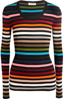 Sonia Rykiel Striped Stretch-knit Sweater - Red