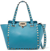 Valentino The Rockstud Small Textured-Leather Shoulder Bag
