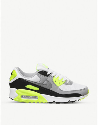 Nike Air Max 90 leather and canvas trainers