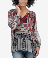 Lucky Brand Long-Sleeve Printed Blouse