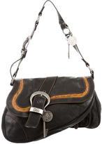 Christian Dior Leather Gaucho Bag