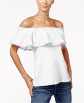 INC International Concepts Petite Ruffled Off-The-Shoulder Top, Only at Macy's