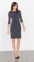 Esprit OUTLET printed stretch mesh dress
