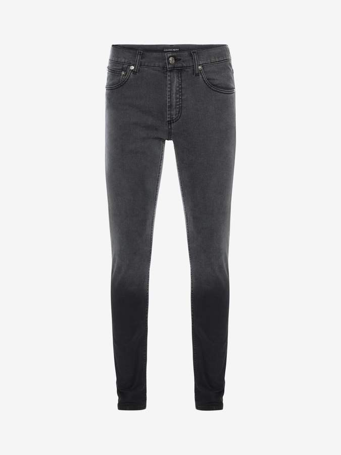 Alexander McQueen Black Degrade Jeans