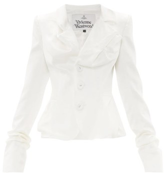 Vivienne Westwood Draped Single-breasted Satin Jacket - White