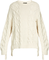 Burberry Cable-knit cotton-blend sweater