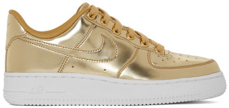 Nike Gold Air Force 1 SP Sneakers