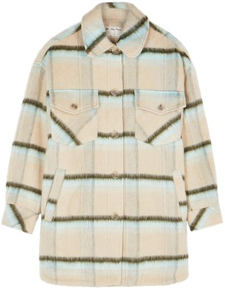 Free People Vienna checked brushed flannel overshirt