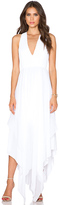 Alice + Olivia Mya Hankerchief Dress in White. - size 4 (also in )