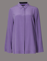 Autograph Pure Silk Grosgrain Long Sleeve Shirt