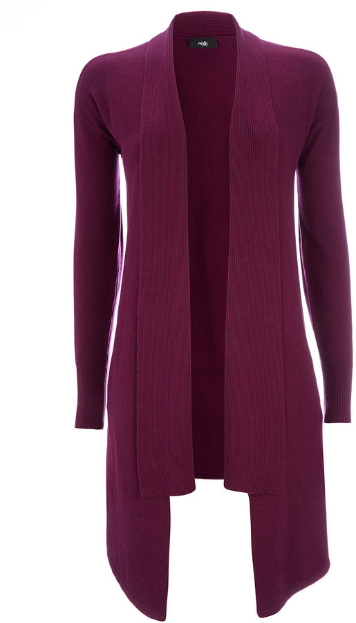 Wallis Plum Waterfall Cardigan