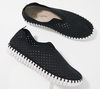 Ilse Jacobsen Perforated Slip-On Shoes -Tulip