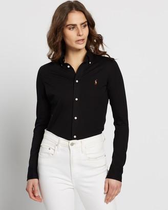 Polo Ralph Lauren LS Heidi Skinny Knit Shirt
