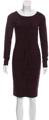 Alice + Olivia Printed Knit Sweater Dress w/ Tags