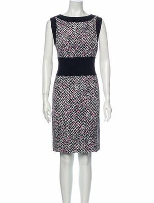 Oscar de la Renta 2014 Knee-Length Dress Black