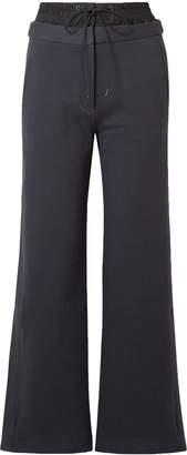Tibi Shell-paneled Cotton-fleece Track Pants