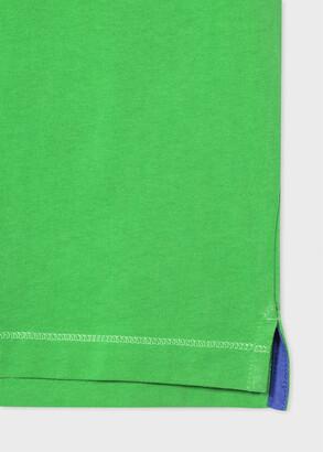 Paul Smith Men's Green 'Happy' Cotton T-Shirt