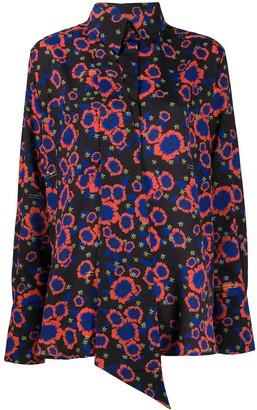 Rokh Floral-Print Tie-Insert Shirt