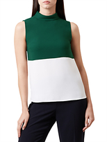Hobbs Isla Top, Grass Green/Ivory