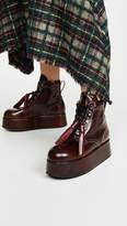 Marni Platform Short Lace Up Boots