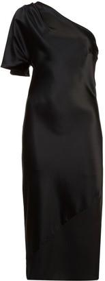 Fleur Du Mal one shoulder fitted dress