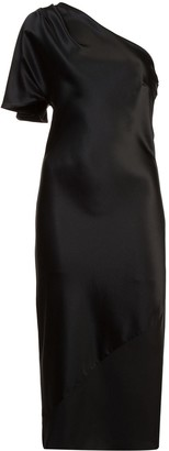 Fleur Du Mal One Shoulder Fitted Dress
