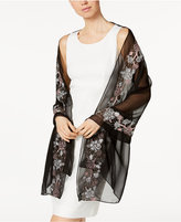 INC International Concepts Floral-Embroidered Evening Wrap, Created for Macy's