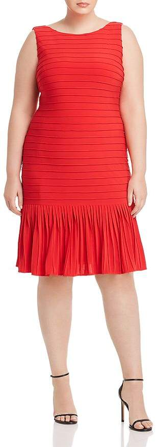 Adrianna Papell Plus Pintucked Dress