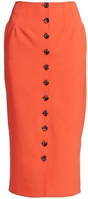 Cinq à Sept Sonya Button-Front Pencil Skirt