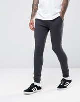 Asos Lightweight Extreme Super Skinny Joggers In Washed Black