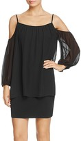 Laundry by Shelli Segal Cold-Shoulder Popover Dress