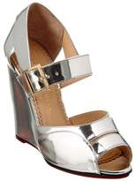 Charlotte Olympia Marcella 100 Metallic Leather Wedge.