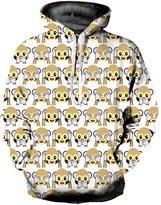 Haloon 3d Realstic Digital Printed Big Pocket Hooded Sweatshirt Hoodies XXL