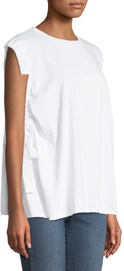Glamorous Tie-Arm Oversized Muscle Tee