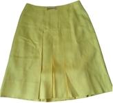 Celine Yellow Wool Skirt